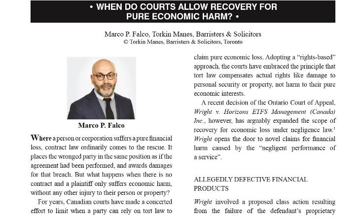 Marco Falco - Commercial Litigation Review